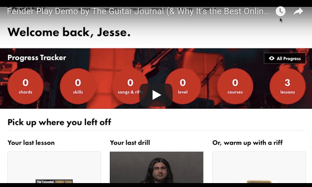 Fender Play Demo by The Guitar Journal (& Why It's the Best Online Learning System for Beginners)