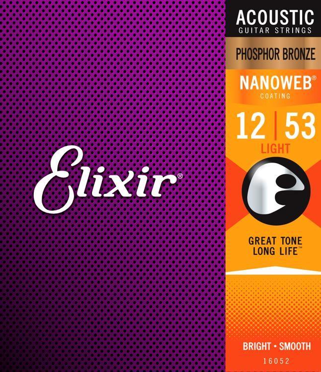 Product Image of Elixir Strings 16545 Acoustic Phosphor Bronze Guitar Strings with NANOWEB Coating