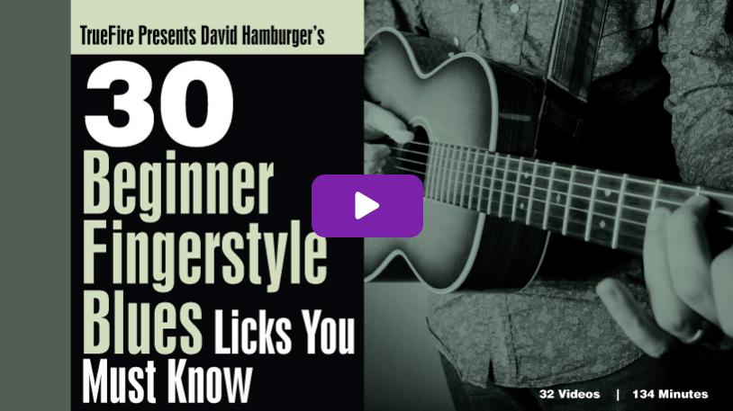 David Hamburger's 30 Beginner Fingerstyle Blues Licks You MUST Know