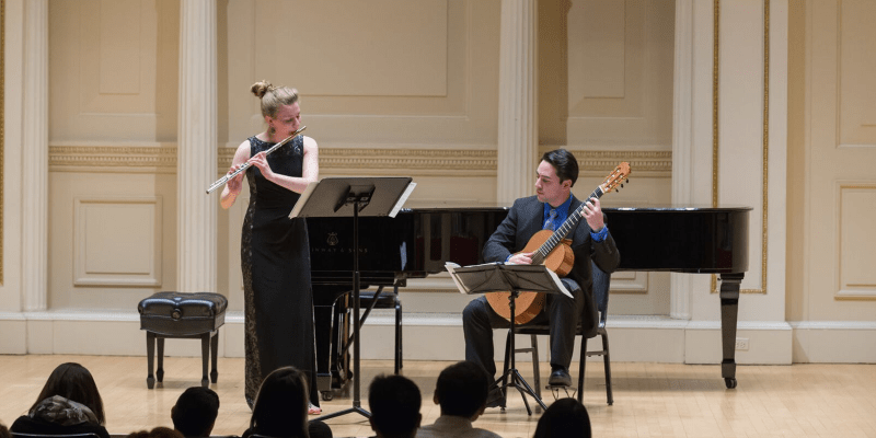 Duo Alterity flute and guitar in concert