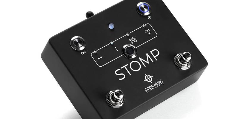STOMP Bluetooth 4.0 foot switch - angle