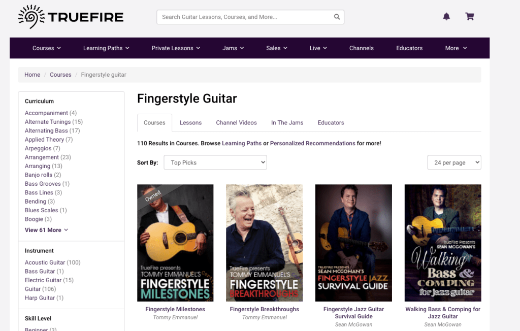 Fingerstyle Guitar Tabs The Top 5 Sites And Apps