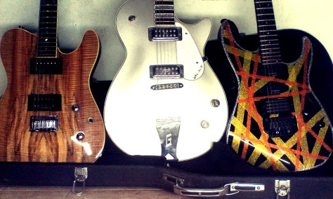 various humbucker pickups on guitars