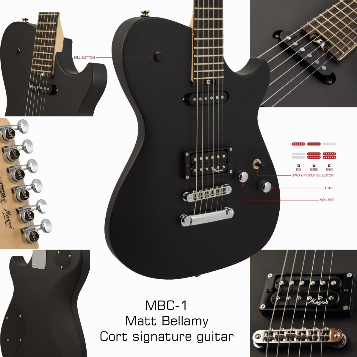 MBC-1 Bellamy Cort guitar specs