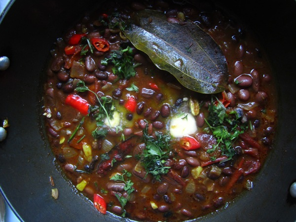 Cooked chirbire beans