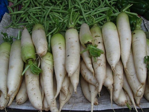 Fresh radish in market