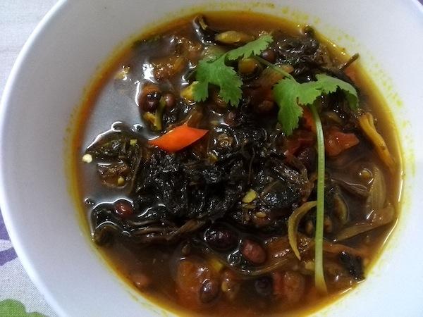 Gundruk ko Jhol (Gundruk Soup)