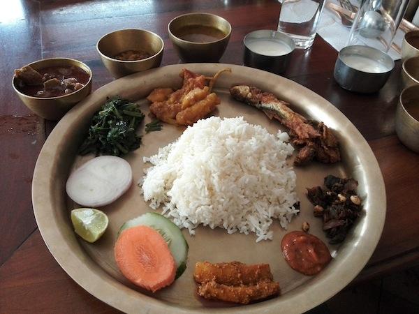 Gundruk ko achaar in Thakali Khana set (@Fewa Thakali Bhanchha Ghar, Pokhara)