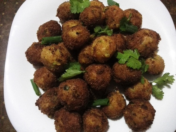 Potato Cheese Balls (with Nepali spices)