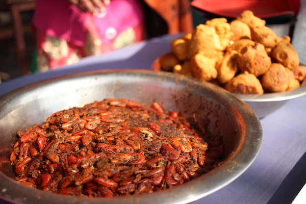 Jhingiya machhari: freshwater shrimp- another delicacy of Tharu community