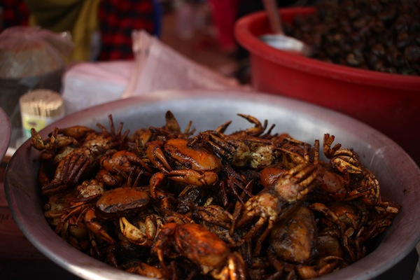 Gengta/Kakhor/Kekhada chutney : crabs generally prepared by frying with spices, and every parts are eaten.