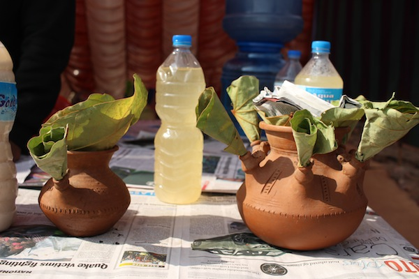 Aandik jhor/Jaar: Liquor made from locally available sticky rice variety (Anadi)
