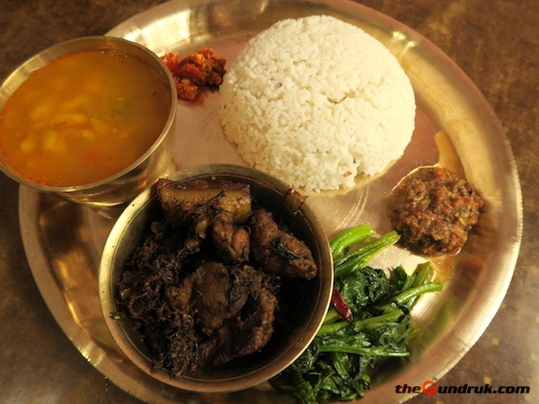 Yangben-Faksa (Pork Curry with Yangben)- Ethnic Food of Rai and Limbu
