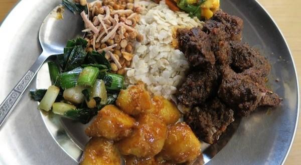 newari set with duck meat choila