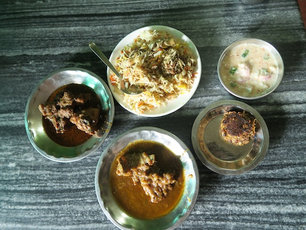 mutton biryani and other dishes