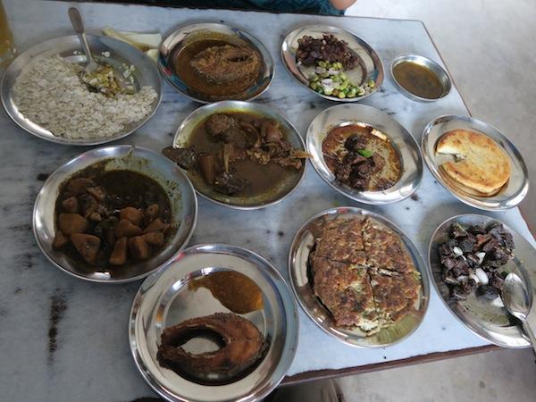 Varieties of Newari dishes at Byanjankar Khaja Ghar
