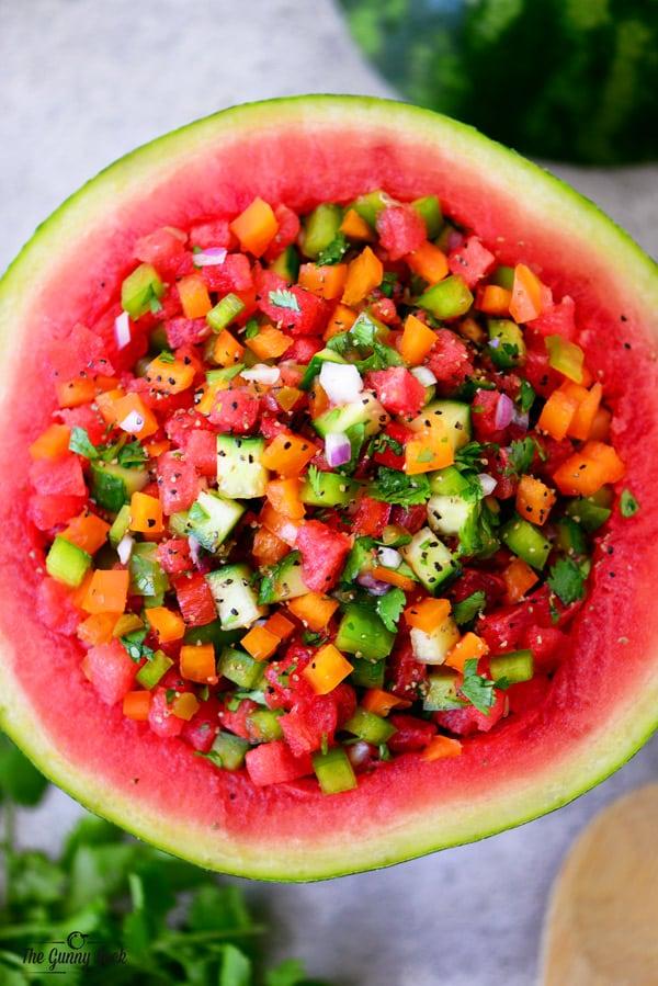 Watermelon Salsa Recipe via The Gunny Sack
