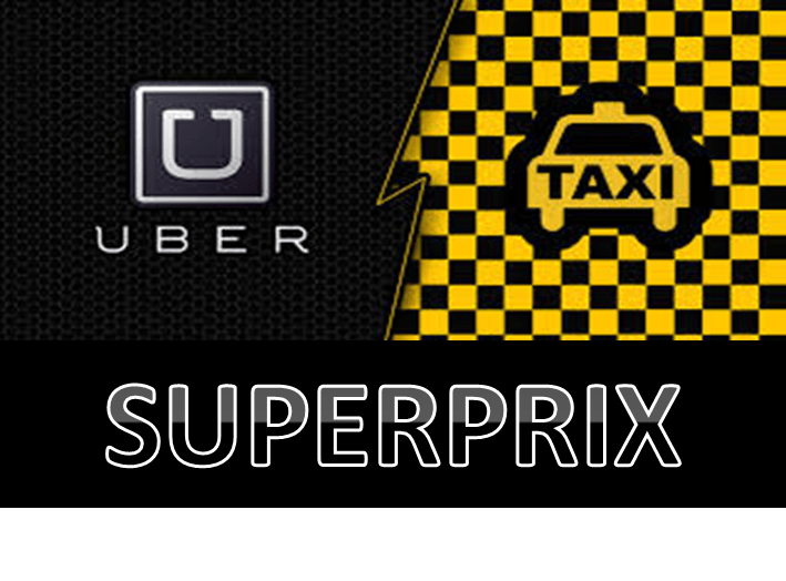 An Alternative Australian Grand Prix Celebrity Race - The TAXI v UBER Superprix