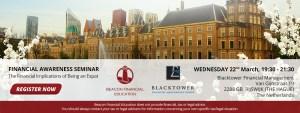 FREE FINANCIAL AWARENESS SEMINAR IN RIJSWIJK @ Blacktower Financial Management, Van Gijnstraat 19, 2288 GB  RIJSWIJK
