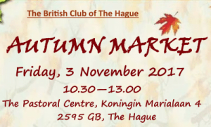 The British Club of The Hague: Autumn Market @ The British Club of The Hague