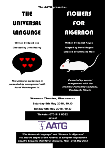 Anglo-American Theatre Group: The Universal Language & Flowers for Algernon @ Warenar Theater