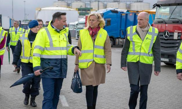 Minister Blok and Minister Kaag visit ferry terminal to discuss post-Brexit logistical solutions