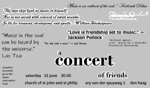 A Concert of Friends: Charity Concert