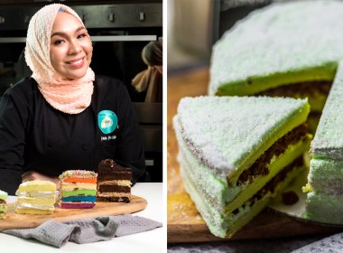 Fafa and her famous ondeh ondeh cake