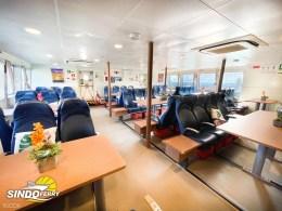 Flamingo Travel - Kueh and Kusu ferry interior