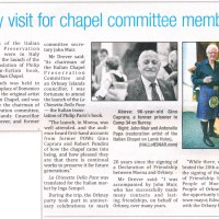 "Published in The Orcadian - ""Italy visit for chapel committee members"""