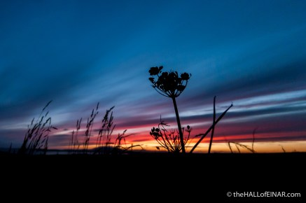 Sunset over Fitty Hill - The Hall of Einar - photograph (c) 2016 David Bailey (not the)