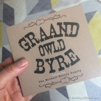 Graand Owld Byre Volume One - The Michael Harcus Family - a review