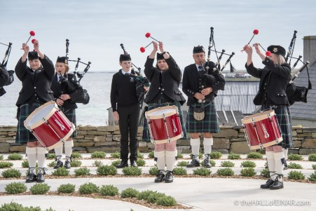 Kirkwall City Pipe Band - The Hall of Einar - photograph (c) David Bailey (not the)