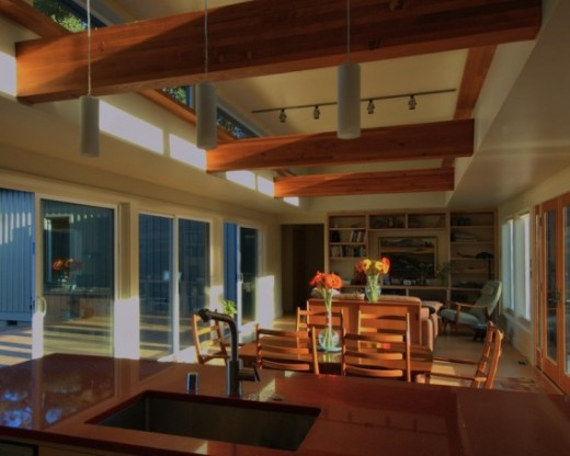 Stillwater-prefab-Santa-Barbara-great-room-from-kitchen-exposed-wood-beams-568x454