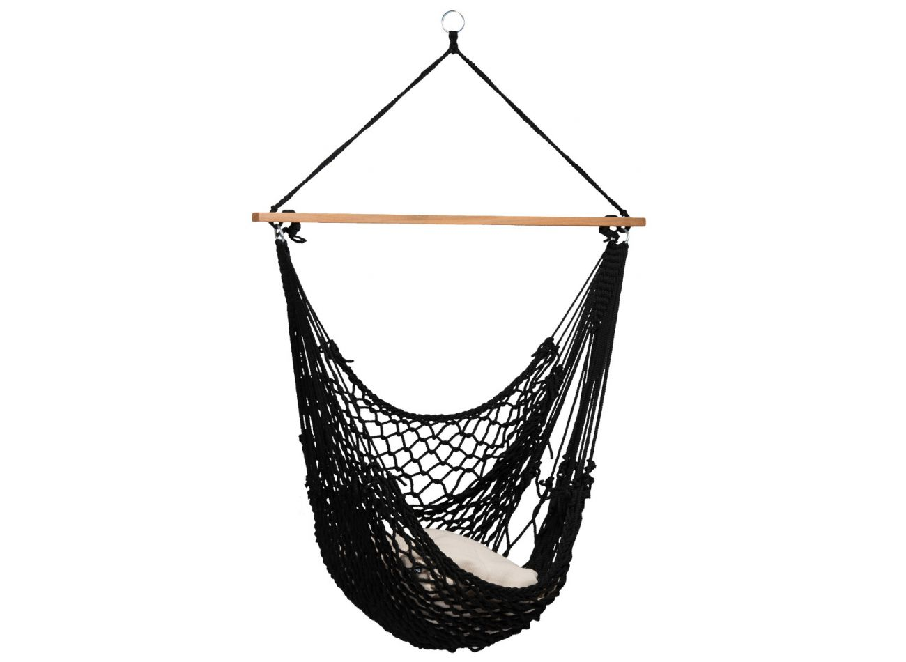 Buy Hanging Chair 1 Person Rope Black At The Hammock