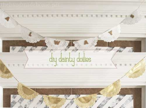 diy doily garland: valentines + just because
