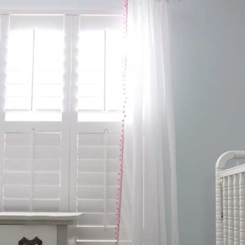 handmade nursery ideas : easy peasy curtains {how to sew trim on curtains}