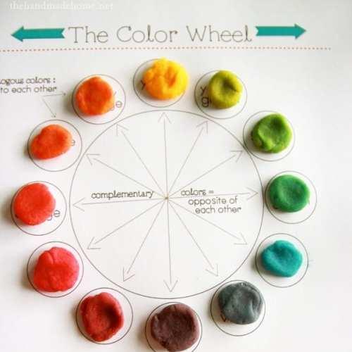 play-doh color wheel (art lesson)