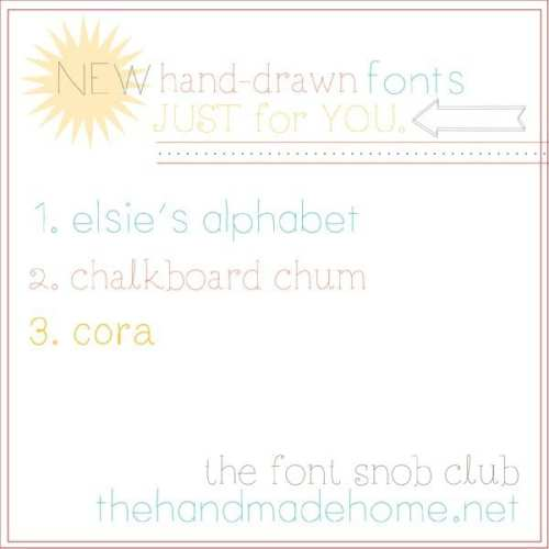 the font snob club : free fonts!