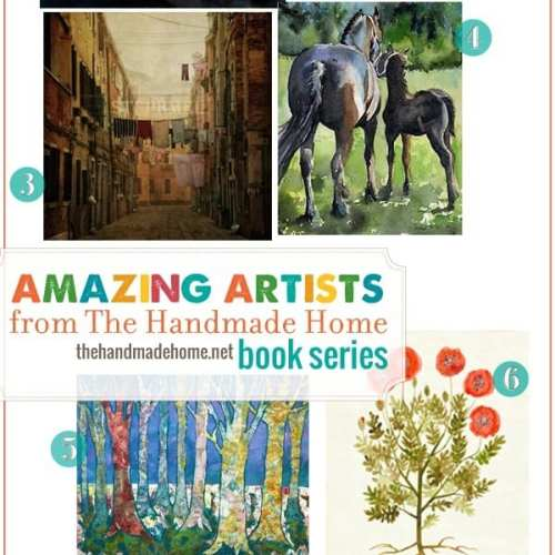 the handmade home book series : amazing artists (5)