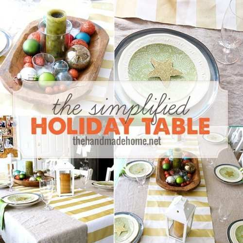 the simplified holiday table