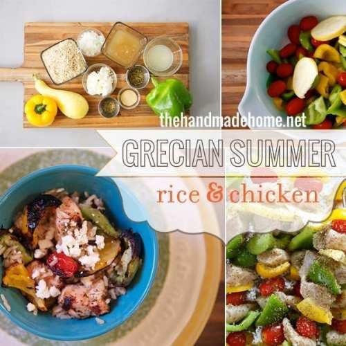 grecian summer rice and chicken