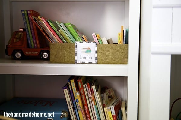 toy organization labels books