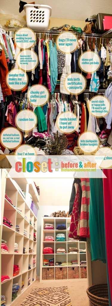organization around the house - closet organization