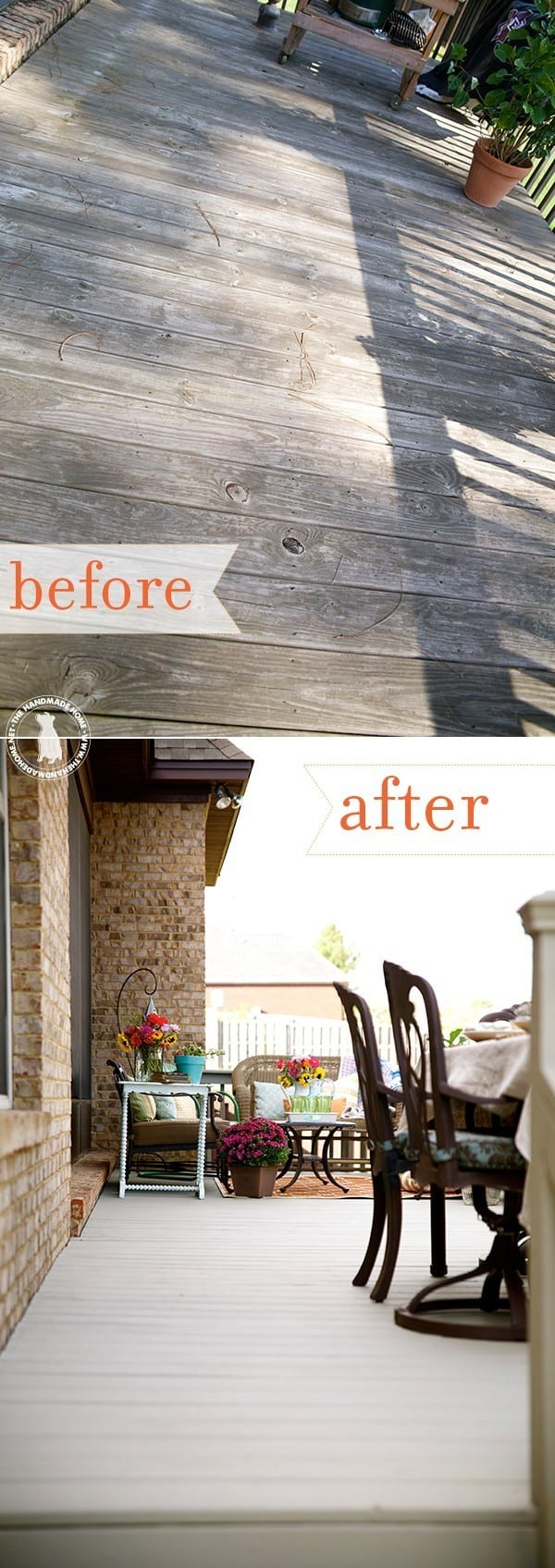 tips for creating an outdoor space - fix old deck boards