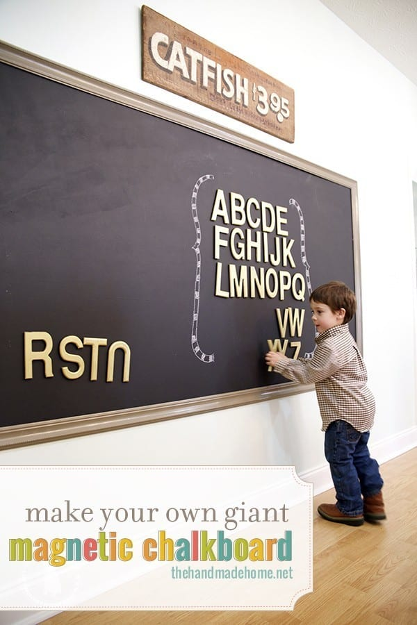 how to make a magnetic chalkboard