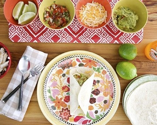 fish tacos and pico de gallo