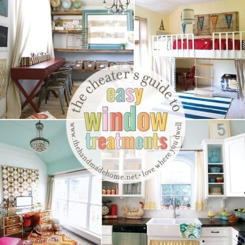 the cheater's guide to easy window treatments