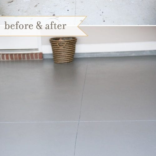 how to refinish your garage floor {the spray paint grenade}