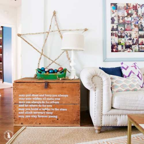 diy birch stick star